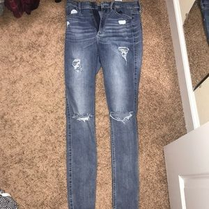 Hollister Jeans - Hollister ripped jeans